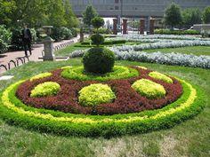 Round garden in Wahington DC.