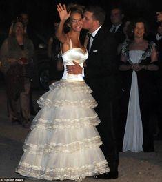 Michael Buble and Luisiana Lopilato