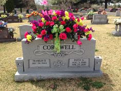 Flowers I did for my mother-n-law's grave.
