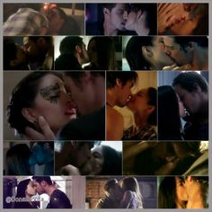 Vincent and Catherine kisses