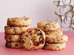 """Fruitcake Cookies : """"Many years ago Lee Bailey, the wonderful cookbook writer, asked me to make 600 pounds of these cookies to sell at his store and I still love them,"""" says Ina. """"They're not only totally delicious (don't think fruitcake — think cookies) but you can make rolls of the dough, refrigerate them and just slice and bake them off as you need them all throughout the holidays."""""""