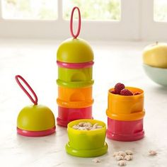 Stacked Formula Milk Container #Snackcontainer #Formuladispenser