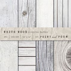 White Wood Texture Pack by Point and Poem