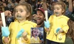 Video of adorable little girl freaking out over her cotton candy …