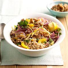 Walnut-Lemon Rice Pilaf