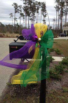 Mardi Gras mail box instead of balls I'll put a little Mardi Gras mask. ;)