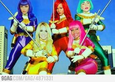 Haha, except I think Britney should be the pink ranger and replace Nikki with Xtina for yellow, lol.