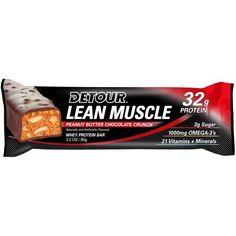 Detour Lean Muscle Peanut Butter Chocolate Crunch Protein Bar, 3.2 oz, 1 count
