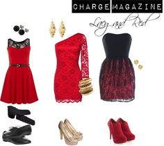 """Lacy and Red for the Holidays"" by chargemagazine on Polyvore"