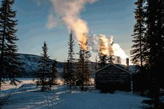 jeanpolfus:  Warming the cabin in the morning atTets'ehxe (Drum Lake) in the Shúhtagot'ı̨nę Nę́nę́ (Mackenzie Mountains) of the Northwest Territories, Canada.