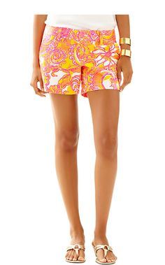 """Lilly Pulitzer 5"""" Callahan Short in Sea and be Seen"""