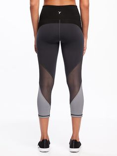 210bc16519 Workout: Clothing · High-Rise Mesh-Trim Compression Crops for Women | Shop  the look #Fashion