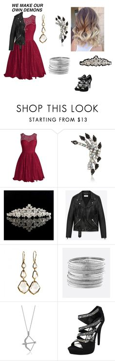 """""""school dance"""" by catsrulefool ❤ liked on Polyvore featuring Elizabeth Cole, Yves Saint Laurent, Ippolita, Avenue and BERRICLE"""