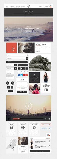 Flat UI Kit | GraphicBurger
