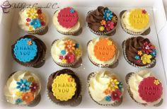 Thank you cupcakes. Thank You Cupcakes, Cute Cakes, Wedding Cards, Cupcake Ideas, Baking, Desserts, Craft Ideas, Food, Deserts