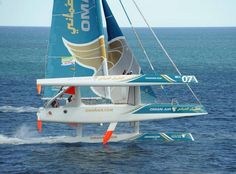 So Trimarans do get out of the water.  That is thrilling!