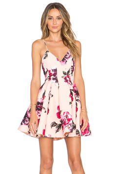 keepsake Star Crossed Dress in Painted Bloom Apricot