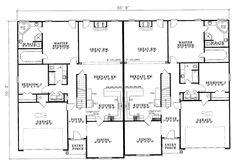 Duplex Plan Chp 33733 At Coolhouseplans Com Retirement