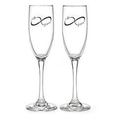 Infinity Flute Set Toast your forever love! Personalized infinity design toasting flutes are perfect to use during your unity ceremony, during the reception and at home after the wedding.