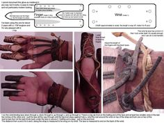 Pattern for making archery tabs/string drawing glove