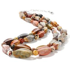 """Jay King Confetti Opal Sterling Silver 17"""" Necklace"""