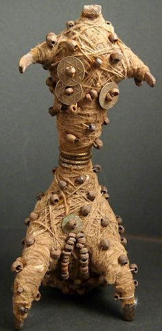 PC047694 fertility amulet, abstract figure from iron & cotton fibre. Matakam people, Northern Cameroon   Flickr - Photo Sharing!