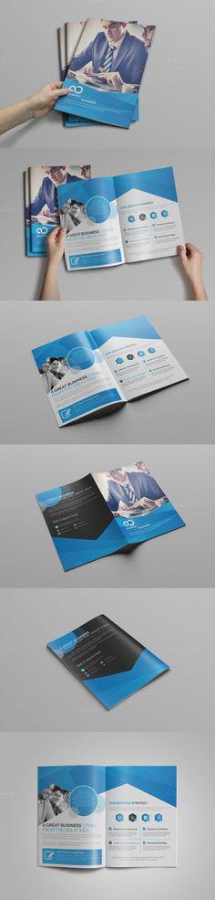Corporate Bifold Brochure Brochures, Brochure template and Fonts - Fitness Brochure Template