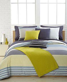 Lacoste Bedding, Aventin Twin Duvet Cover Set - Duvet Covers - Bed & Bath - Macy's
