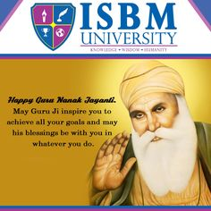 May happiness and blessings surround you as we join together to remember the beloved Sri Guru Nanak Dev Ji. HAPPY GURUPURAB TO ALL!!! #ISBMUniversity