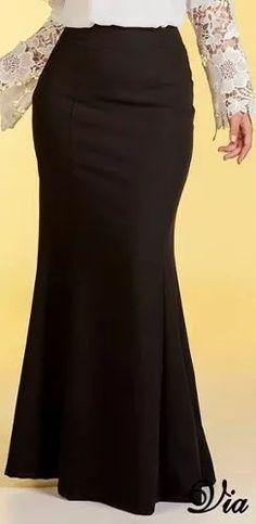 via angel evangélica moda sereia saia longa - faldas -