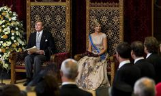 King Willem-Alexander of The Netherlands and Queen Maxima of The Netherlands attend the opening of the parliamentary year on September 15, 2015 in The Hague, The Netherlands.