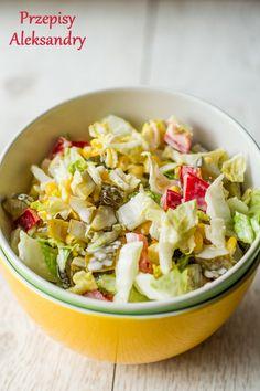 Appetizer Salads, Appetizers, Polish Recipes, Side Salad, Potato Salad, Cabbage, Food And Drink, Vegetarian, Tasty