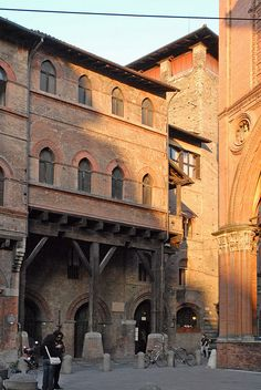 Medieval Arches in Bologna, Italy