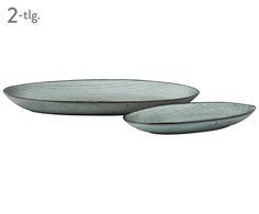 Handgefertigtes Servierteller-Set Nordic Sea, 2-tlg. // großer Teller 30x18cm Preis 28.99