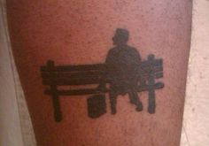 I would so get a Forrest Gump tattoo. . . short of having Tom Hank's face actually on my body.