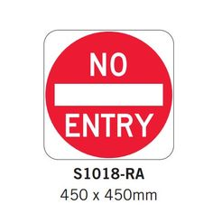 Car Park Signs- No Entry sign - Spacepac Industries