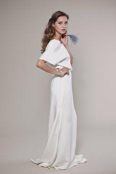 Non Traditional Wedding Dress: Audrey Blouse and Descending Silk Skirt