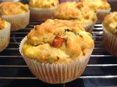 VÍKENDOVÉ PEČENÍ: Dýňové muffiny s bazalkou a sýrem feta Pumpkin Squash, Quiche, Mashed Potatoes, Zucchini, Feta, Muffins, Cheesecake, Pizza, Baking