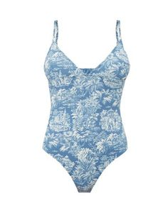 New Belize Joan tropical-print swimsuit Womens Clothing. offers on top store Vacation Mood, Vacation Wardrobe, Italy Vacation, Blue Bikini, Tie Backs, Women Swimsuits, Bikinis, Swimwear, Beachwear