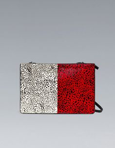 COMBINED FUR CLUTCH BAG - Handbags - Woman - ZARA United States