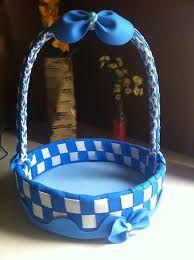 Resultado de imagem para cesta para bebe de eva