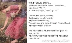 HE cares...and HE is so faithful!