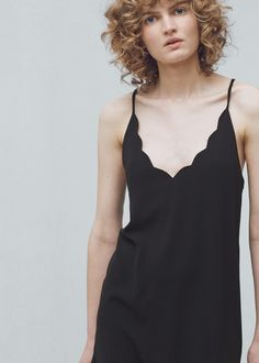 Robe texturée à bretelles | MANGO