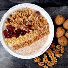 My Casual Brunch: Papas de aveia com super granola e pinhões