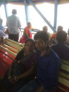 My mom and me in arob sahon on boat