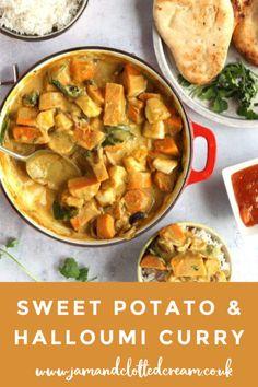 Low Calorie Vegetarian Recipes, Veg Recipes, Curry Recipes, Indian Food Recipes, Cooking Recipes, Healthy Recipes, Sweet Potato Dishes, Sweet Potato Curry