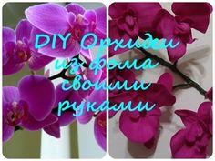 Мастер класс орхидея из фоамирана| Орхидея своими руками