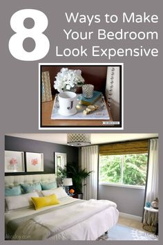 Great tips for making your bedroom look expensive.  http://www.hometalk.com/l/5H8