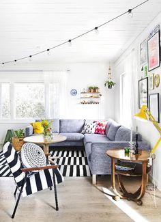 Pirteä olohuone | Unelmien Talo&Koti