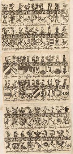 Wappen - Heraldik : Süddeutsche und Österreichische Familienwappen / Coats of Arms - Heraldry : Coats of Arms of Southern German and Austrian Families / Heráldica - Armas de Familias Alemanas y Austriacas.